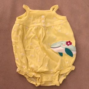 Carters Yellow Whale One-Piece
